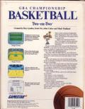 GBA Championship Basketball: Two-on-Two DOS Back Cover
