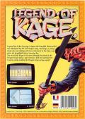 The Legend of Kage Commodore 64 Back Cover