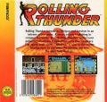 Rolling Thunder Commodore 64 Back Cover