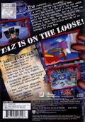 Taz: Wanted PlayStation 2 Back Cover