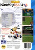 World Cup USA 94 SEGA CD Back Cover