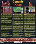 Genghis Khan DOS Back Cover