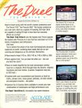 The Duel: Test Drive II Commodore 64 Back Cover