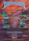 Drakkhen Amiga Back Cover