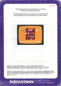 Checkers Intellivision Back Cover