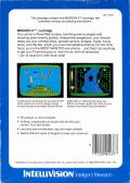 Mission X Intellivision Back Cover