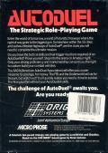 Autoduel Commodore 64 Back Cover