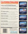 Test Drive II Scenery Disk: California Challenge Commodore 64 Back Cover