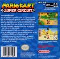 Mario Kart Super Circuit Game Boy Advance Back Cover