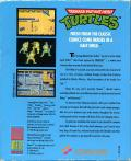 Teenage Mutant Ninja Turtles Commodore 64 Back Cover