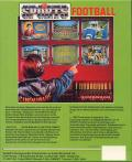 TV Sports: Football Commodore 64 Back Cover