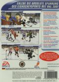 NHL 2001 PlayStation 2 Back Cover