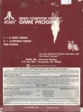 Night Driver Atari 2600 Back Cover