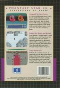 Phantasy Star III: Generations of Doom Genesis Back Cover