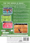 Tennis 2K2 PlayStation 2 Back Cover
