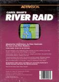 River Raid Intellivision Back Cover