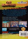 King of the Monsters Genesis Back Cover
