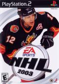 NHL 2003 PlayStation 2 Front Cover