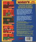 Mario's Game Gallery DOS Back Cover