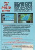 The Hunt for Red October Atari ST Back Cover