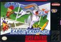 Bugs Bunny Rabbit Rampage SNES Front Cover