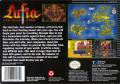 Lufia & the Fortress of Doom SNES Back Cover