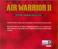 Air Warrior II Windows Other Jewel Case - Back
