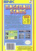 Baseball Stars NES Back Cover