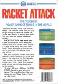 Racket Attack NES Back Cover