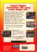 Final Fight SEGA CD Back Cover