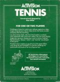 Tennis Atari 2600 Back Cover