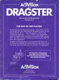Dragster Atari 2600 Back Cover