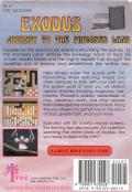 Exodus: Journey to the Promised Land NES Back Cover