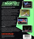 XF5700 Mantis Experimental Fighter DOS Back Cover