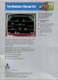 Mario Bros. Atari 5200 Back Cover