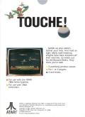 Joust Atari 7800 Back Cover