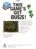 Centipede Atari 7800 Back Cover