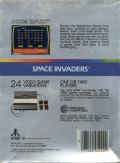Space Invaders Atari 5200 Back Cover