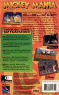 Mickey Mania SEGA CD Back Cover