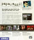 Paparazzi!: Tales of Tinseltown DOS Back Cover