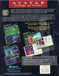 Ultima: The Second Trilogy Commodore 64 Back Cover