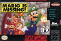 Mario is Missing! SNES Front Cover