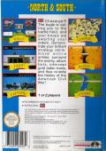 North & South NES Back Cover