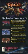 Primal Rage 3DO Back Cover