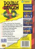 Double Dragon V: The Shadow Falls Genesis Back Cover