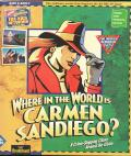 Where in the World is Carmen Sandiego? (Deluxe Edition) DOS Front Cover
