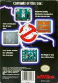 Ghostbusters NES Back Cover