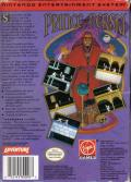 Prince of Persia NES Back Cover