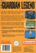 The Guardian Legend NES Back Cover