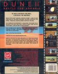 Dune II: The Building of a Dynasty Amiga Back Cover